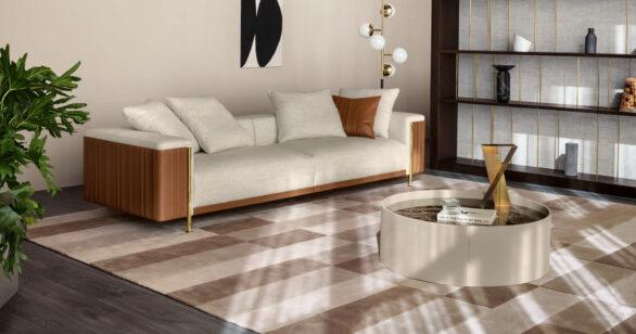 01_Trussardi Casa_Deven sofa, Monny side table